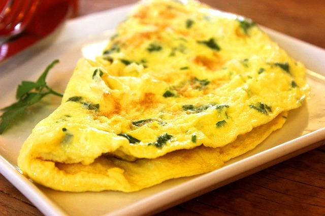 spinat käse omelett